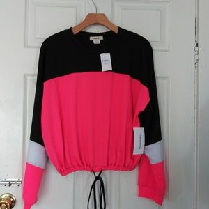Neon pink and black rue21 jogging sweater